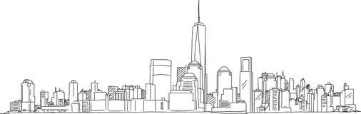 Handlungsfreiheits-Skizze New York Manhattan Lizenzfreie Stockbilder