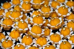Handmad hermoso de los postres de Cha de la comida dulce tailandesa del mongkut foto de archivo