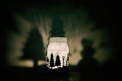 Handmade świeczka właściciel z cieniami Obraz Stock