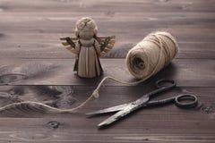 Handmade ангел соломы Стоковые Изображения