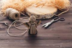 Handmade ангел соломы Стоковые Фото