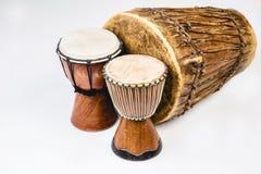 3 Handmade барабанчика Djembe Стоковая Фотография