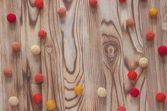 Handmade белая картина рамки вязания крючком, вяжущ, шьющ Рождество, yuletide, день валентинки установьте текст Стоковые Фото