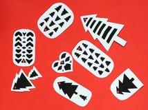 Handmade бирки подарка рождества Стоковые Фотографии RF