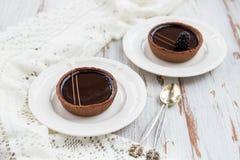 Handmade богатые Tartlets шоколада стоковое изображение rf