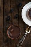 Handmade богатые Tartlets шоколада стоковые изображения rf