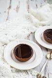 Handmade богатые Tartlets шоколада стоковые изображения