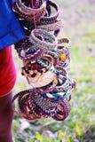 Handmade браслеты в картине разнообразия стоковые изображения rf