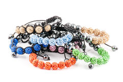 Цветастые браслеты Shamballa стоковое фото