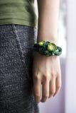 Handmade браслет вязания крючком Стоковые Фото