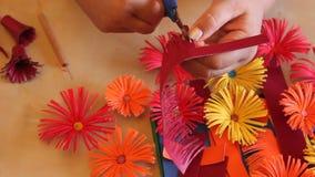 Handmade бумажные цветки Стоковое Изображение RF