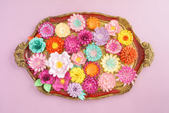 Handmade бумажные цветки стоковые изображения