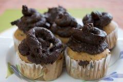 Handmade булочки с сливк шоколада Стоковое фото RF