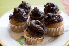 Handmade булочки с сливк шоколада Стоковые Фотографии RF