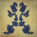 Handmade винтажное испытание rorschach Стоковые Фото