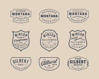Handmade винтажные логотип, Insignia и значки 2 бесплатная иллюстрация