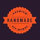 Handmade винтажный значок, штемпель вектора Стоковое фото RF
