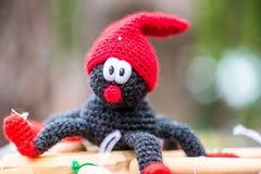 Handmade вязать крючком крючком маленькая игрушка паука Стоковое Изображение RF