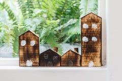 Handmade деревянные декоративные дома Стоковая Фотография RF