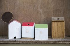 Handmade деревянный дизайн дома Стоковая Фотография RF