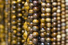 Handmade деревянные ожерелья Стоковые Фото