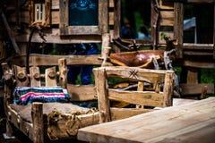 Handmade деревянный интерьер Стоковые Фотографии RF