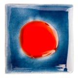 Handmade застекленная керамическая плитка Стоковые Фото