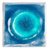 Handmade застекленная керамическая плитка Стоковая Фотография RF