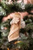 Handmade игрушка на дереве Нового Года Стоковые Изображения