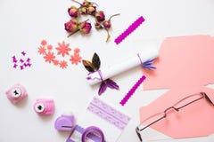 Handmade изготовитель поздравительной открытки Стоковая Фотография