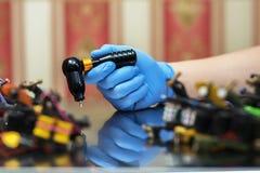 handmade изолированная белизна машины используемая tattoo Стоковая Фотография RF