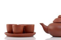 handmade изолированный чайник Стоковое Фото