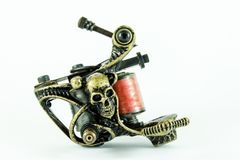 handmade изолированная белизна машины используемая tattoo Стоковое фото RF