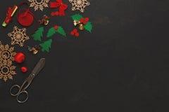 Handmade инструменты для делать взгляд сверху подарка рождества Стоковые Фото