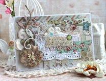 Handmade карточка на День матери Стоковое Изображение RF
