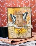 Handmade карточка Стоковое фото RF