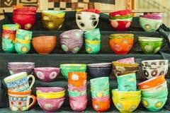 Handmade керамика художника стоковые фотографии rf