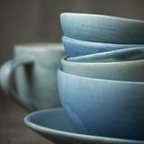 Handmade керамическая посуда Стоковые Изображения RF