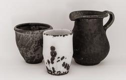 Handmade керамические продукты различных рангов Стоковое Фото