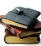 Handmade кожаные блокноты Стоковая Фотография RF