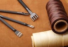 Handmade кожаный инструмент корабля Стоковая Фотография