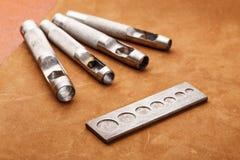 Handmade кожаный инструмент корабля Стоковые Фото