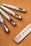 Handmade кожаный инструмент ремесла Стоковая Фотография RF