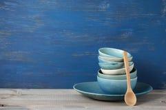 Handmade комплект посуды Стоковое Изображение RF