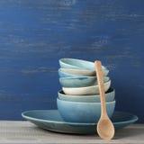 Handmade комплект посуды Стоковые Изображения RF