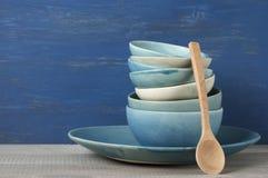 Handmade комплект посуды Стоковое Изображение