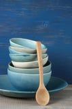 Handmade комплект посуды Стоковая Фотография