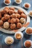 handmade конфеты шелушатся, пшено, высушенные плодоовощи и гайки Стоковое фото RF