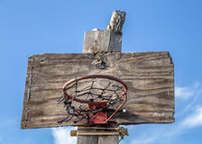 Handmade корзина баскетбола Стоковые Фото