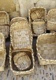 Handmade корзины wicker Стоковые Изображения